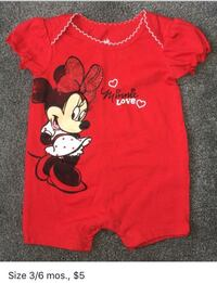 Minnie Mouse Outfit (Size 3/6 mos.) Oil City, 16301