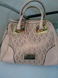 women's white and brown leather tote bag El Paso, 79915