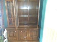 brown wooden framed glass display cabinet Albuquerque, 87106