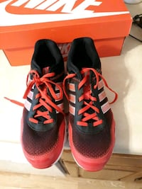 Boys Red and Black Adidas Shoes (5)  St. Cloud, 56303