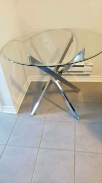 gray and black metal framed glass-top table Brampton, L7A 0G3