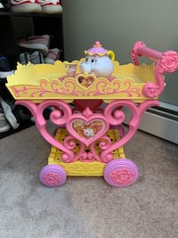 Beauty and the Beast Musical Tea Party Cart
