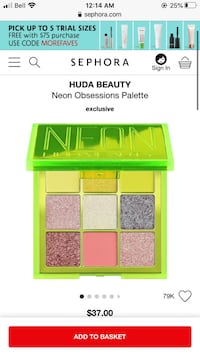 Huda beauty eye shadow palette Sherwood Park, T8A 5K9