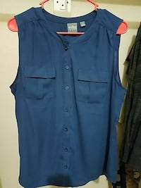blue Soho button-up Size Large