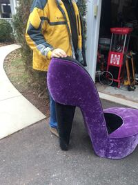 purple suede stiletto chair Manassas, 20109