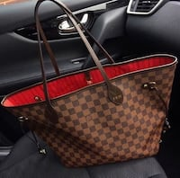 brown Louis Vuitton leather tote bag New York, 10459