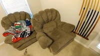 Brown recliner chairs