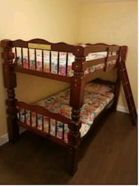 Brown wooden bed frame mattress not included Montréal, H3S 1L4