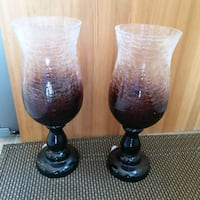 two black-and-white table lamps Barrie, L4M 2W8