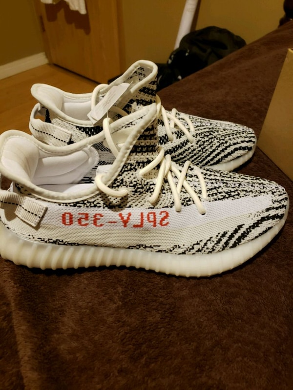 e4952dcf0333d Used Adidas YEEZY BOOST 350 V2 Zebra size 9 with box for sale in Abbotsford  - letgo