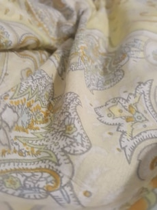 yellow floral textile