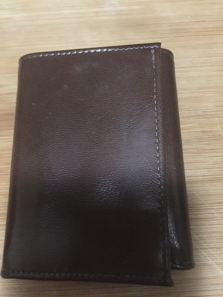 Photo Prince gardner leather tri fold waller - never used