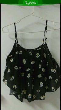 black and white floral spaghetti strap top South Gate, 90280