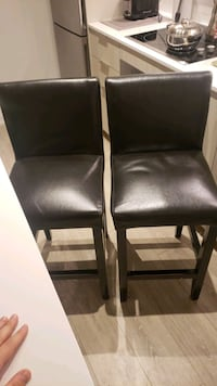 2 leather highchair  set Toronto, M5A 0M8