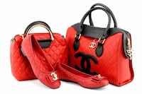 red and black leather tote bag Toronto, M6M 3A9