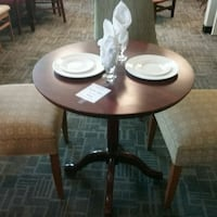 round brown wooden table with four chairs dining set Oakville, L6L 5N1