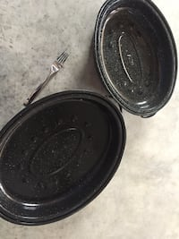 Black bbq oval pans with lids NEW Calgary