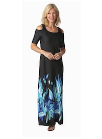 Artizan by Robin Barre Cold Shoulder Maxi Dress(New) -A+(Reg.Price $69.99) Pickering