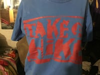blue and red Superman print crew neck shirt Morrow, 30260