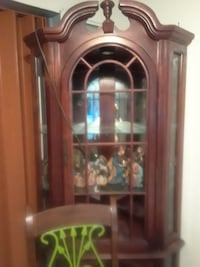 brown wooden display cabinet Margate, 33063