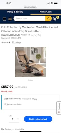 Oslo Collection Mac Motion Recliner & Ottoman In Sand Leather