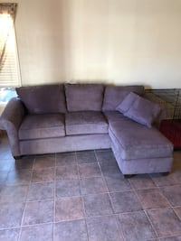 Sofa with lounge and oversized recliner