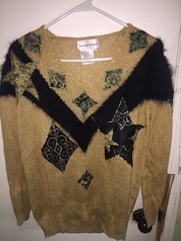 Designer Franco Valeri Angora Rabbit Fur V Neck Sweater Winnipeg, R3E 2L5
