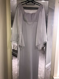 gray bell-sleeved square-neck long dress Edmonton, T5Z 3Z8