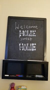 square black wooden framed Welcome home sweet home wall decor
