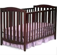 baby's brown wooden crib Calgary, T1Y 2R6
