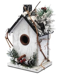 Brand New In Box Winter Christmas Bird Houses Decor (9.5 in) A Unique Beauty, When Christmas is Coming!!! Give The Birds a Comfortable&Warm Home Hayward, 94544