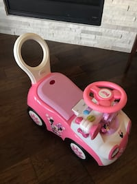 Toddler's pink and yellow ride on toy car Roanoke, 76262