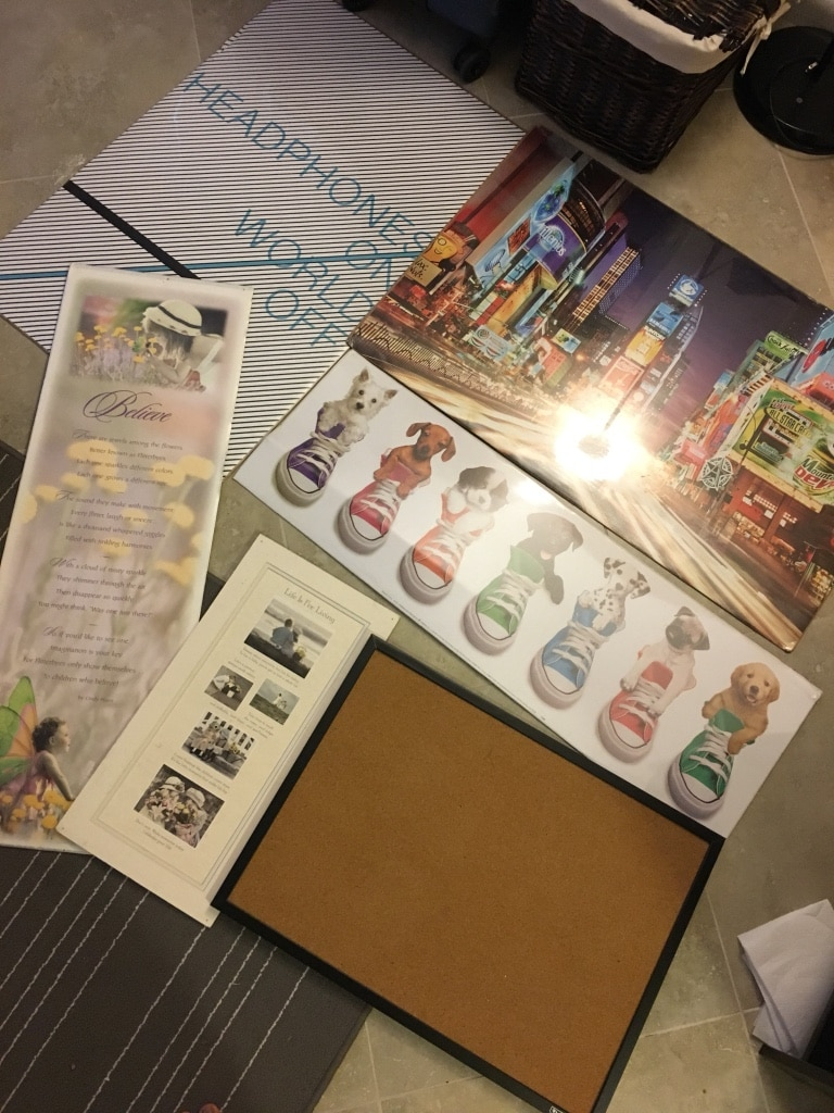 Posters and corkboard