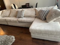 White fabric 2-seat sofa Beltsville