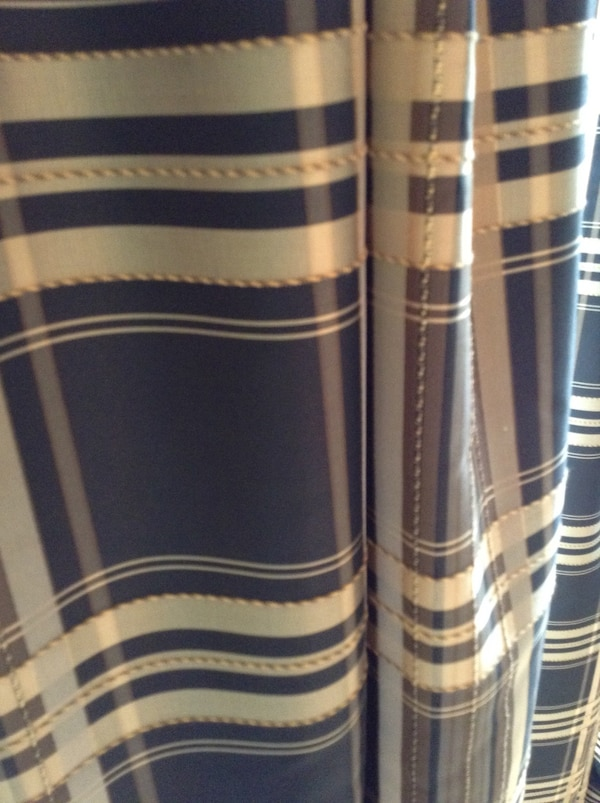 Dining room or living room drapes. Silk fabric all lined.