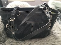 black leather 2-way bag Calgary, T2H