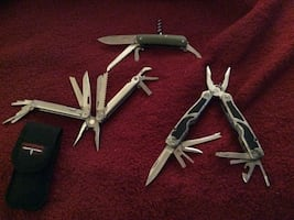 Leatherman Wave, Boker and Winchester multi tool utility knives