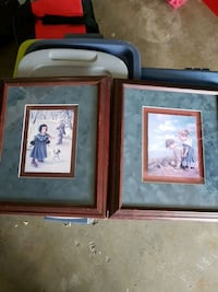 two brown wooden framed paintings Kelowna, V1W 2K2