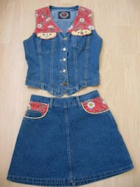 Country Style Skirt and  Vest Ladies size 3