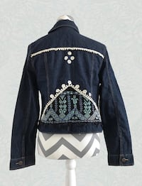 Denim jacket with authentic Bedouin embroidery and embellishments McLean, 22102