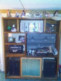 brown wooden TV hutch with flat screen television Cheney, 99004