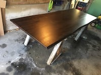 Live edge stained oak table Toronto