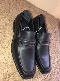 Pair of black leather dress shoes Fort Bliss