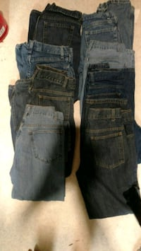 Young men's size 16 blue jeans total of 8 pair's Monterey