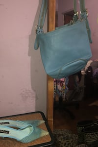 Blue coach purse in the shoe size now