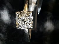 silver and gold floral ring Framingham