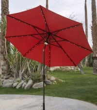 Tan Patio Umbrella with Solar Powered lights  Clifton, 07013