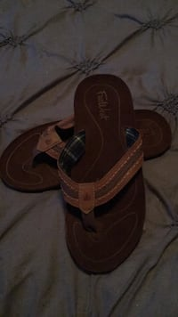 Pair of brown leather sandals Calgary, T3H 3V9