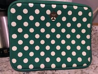 Green and white kate spade polka-dot ipad or tablet sleeve Sebastian, 32958