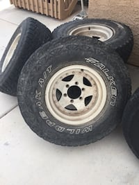 6 Lug truck wheels with tires